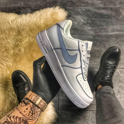 Женские кроссовки Nike Air Force 1 Low Reflective White Gray • Space Shop UA