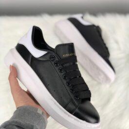 Кроссовки унисекс Alexander McQueen Black White Leather