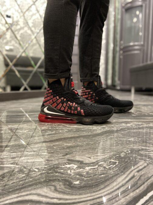Nike LeBron 17 Black Red (Чёрный) • Space Shop UA