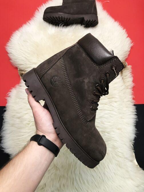 Ботинки зимние унисекс Timberland Brown Fur • Space Shop UA