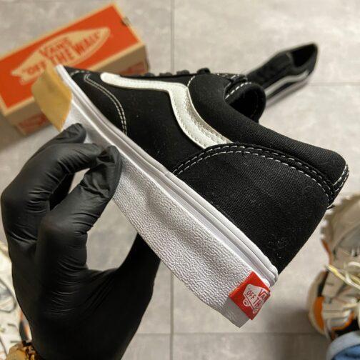 Vans Old Skool Black/White SUPREME (Черный) • Space Shop UA