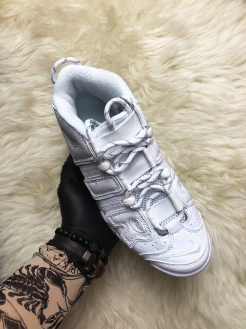 Кроссовки унисекс Nike Air More Uptempo Triple White • Space Shop UA