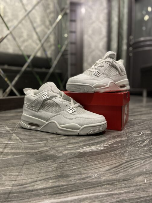 Nike Air Jordan 4 Retro Triple White (Белый) • Space Shop UA